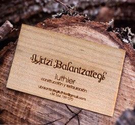 tarjetas de visita madera