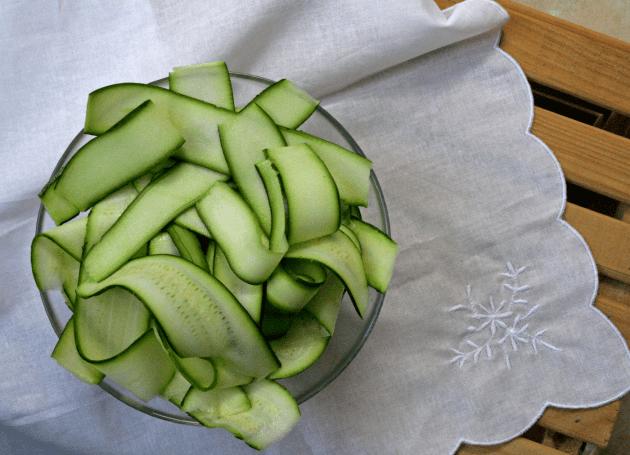 Cut Zucchinis