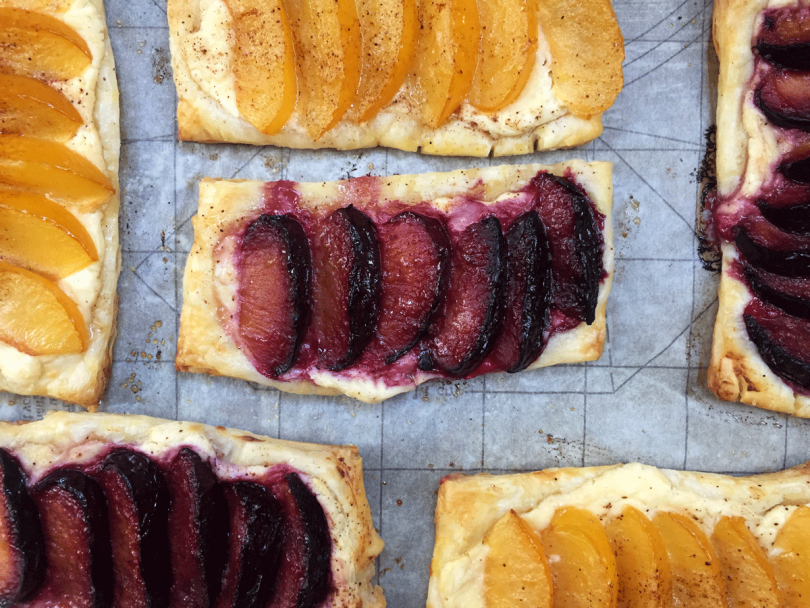 Tangy Puff Pastry Plum Tartlets