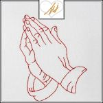 Freebie Friday Redwork Hands