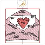 Redwork with a Twist Love Letter