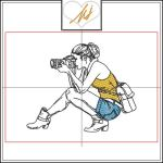 Red Twist collection – Girl with Camera