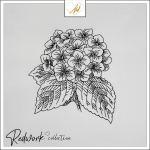Redwork Flower