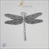 Redwork Dragonfly