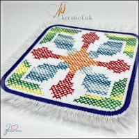 Freebie Friday ITH Cross Stitch Coaster