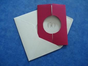 Einladungskarte zum 60. Geburtstag