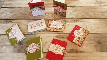 Meine one sheet wonder Weihnachtskarten