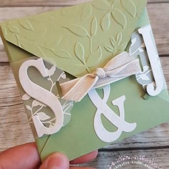 Hochzeitskarte Rückseite für S & J