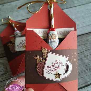 Hot Santa-Verpackung für Instant-Schokodrink zum Weihnachtsmarkt 2019