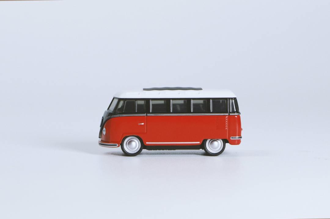 Red Volkswagen Bus