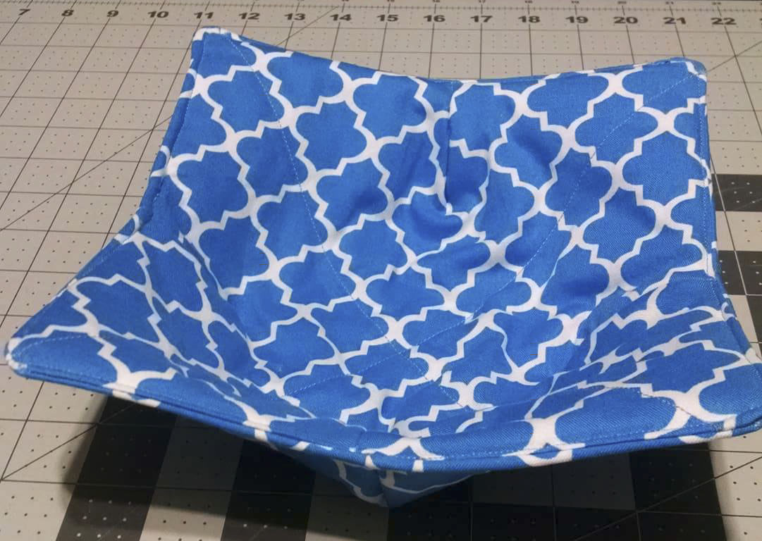 Bowl Cozy, Blue and White, Microwaveable