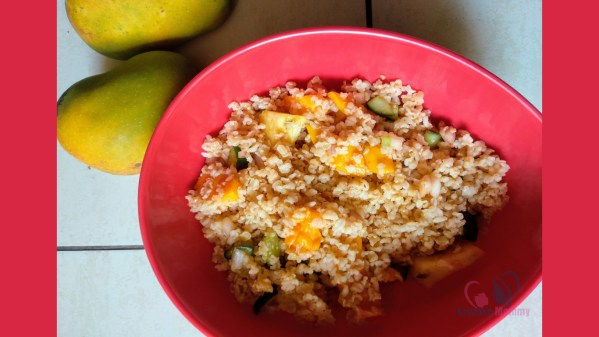 mango brown rice salad