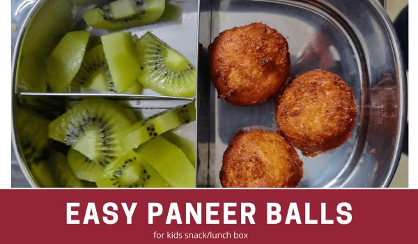 paneer balls recipe