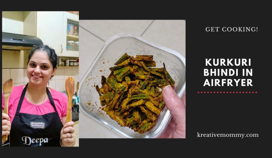 Kurkuri bhindi in airfryer