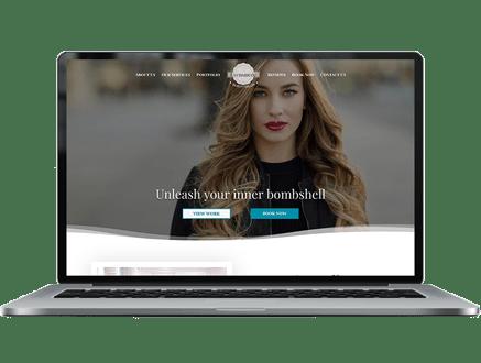 salon website template