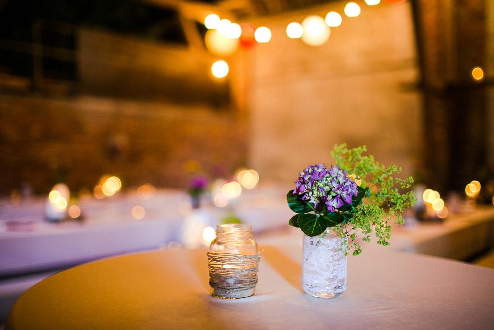 Hochzeit DIY  Centerpieces  Tischdeko gnstig selbermachen