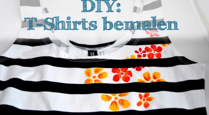 DIY Tshirts bemalen  drei Techniken mit und ohne Schablone