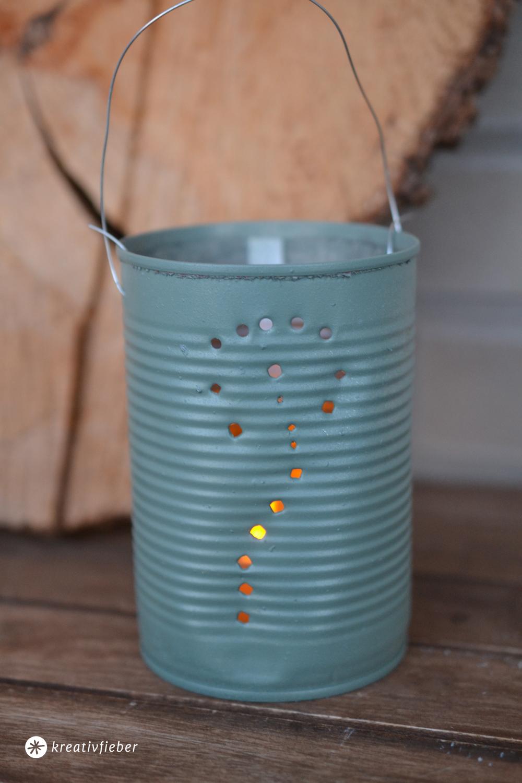 Upcyclingidee Konservendosen Windlicht