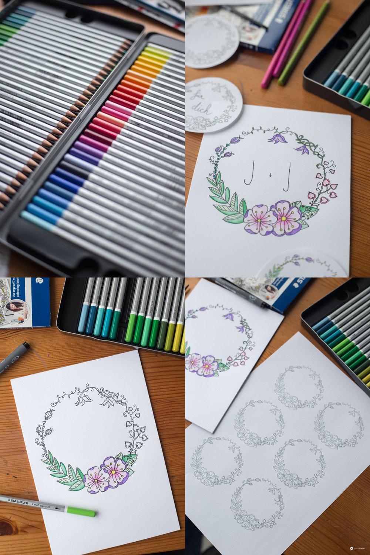 DIY Blumenkranz Monogramm Bild und Geschenkanhnger Freebie