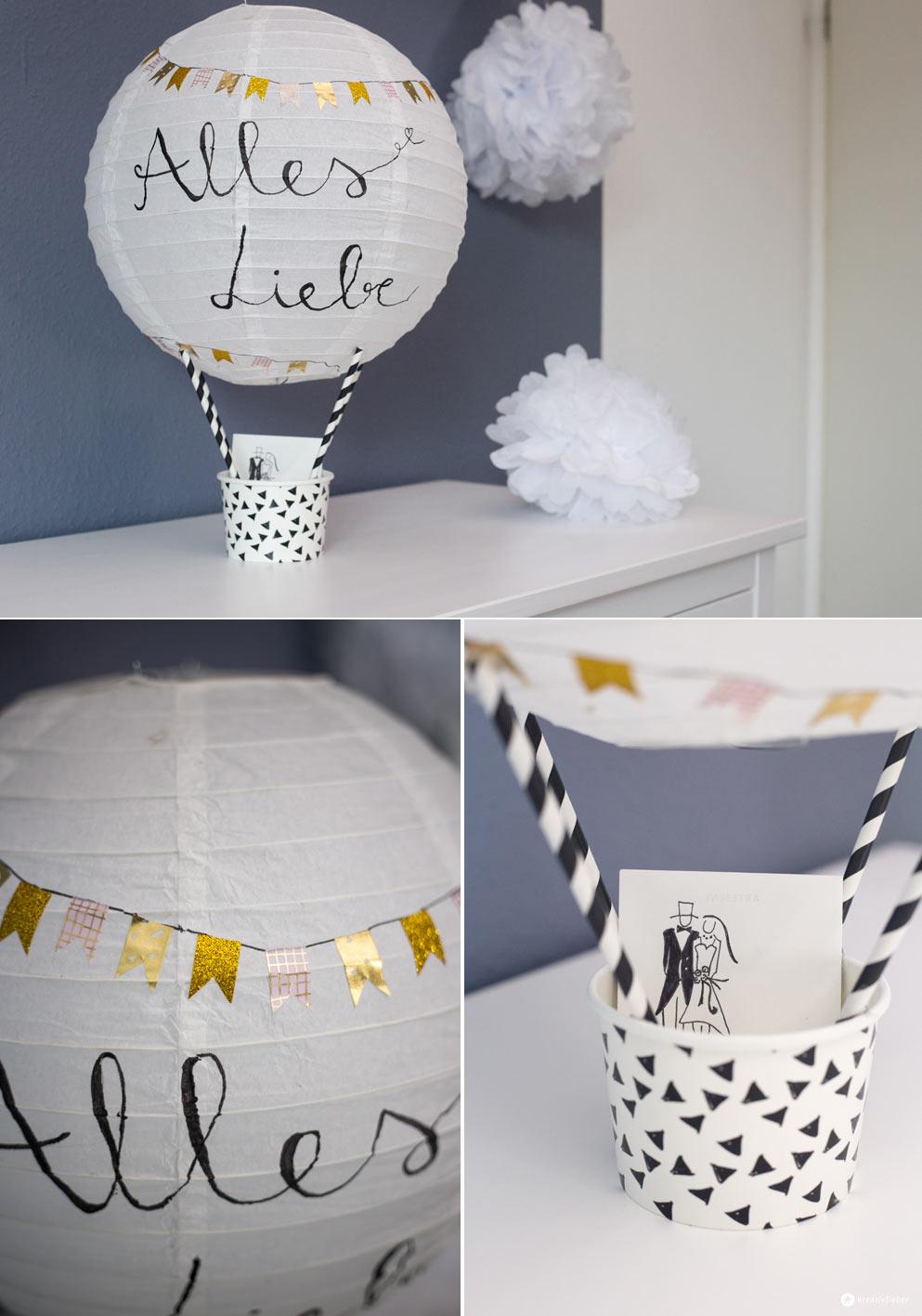 DIY Geschenkidee zur Hochzeit  Heiluftballon