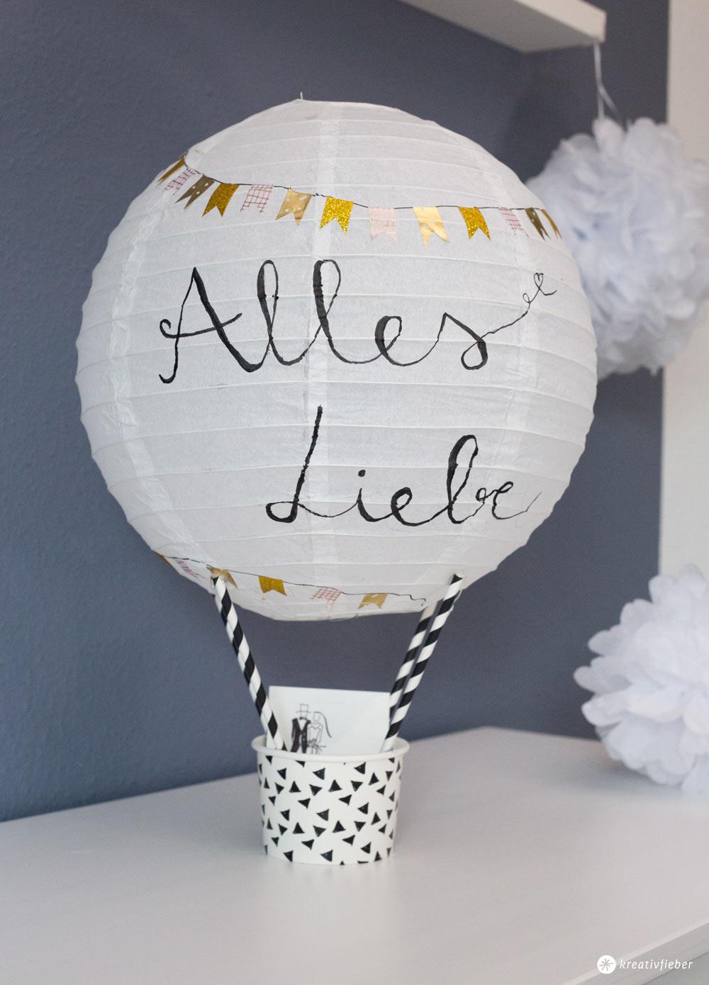 DIY Geschenkidee zur Hochzeit  Heiluftballon Geldgeschenk basteln  DIY