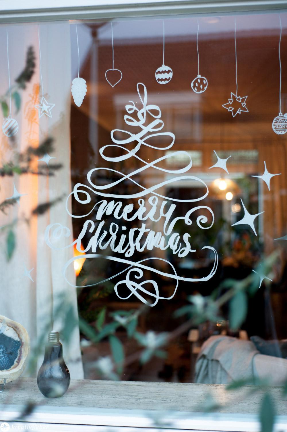 fensterbilder kreidestift zum ausdrucken  weihnachtliche