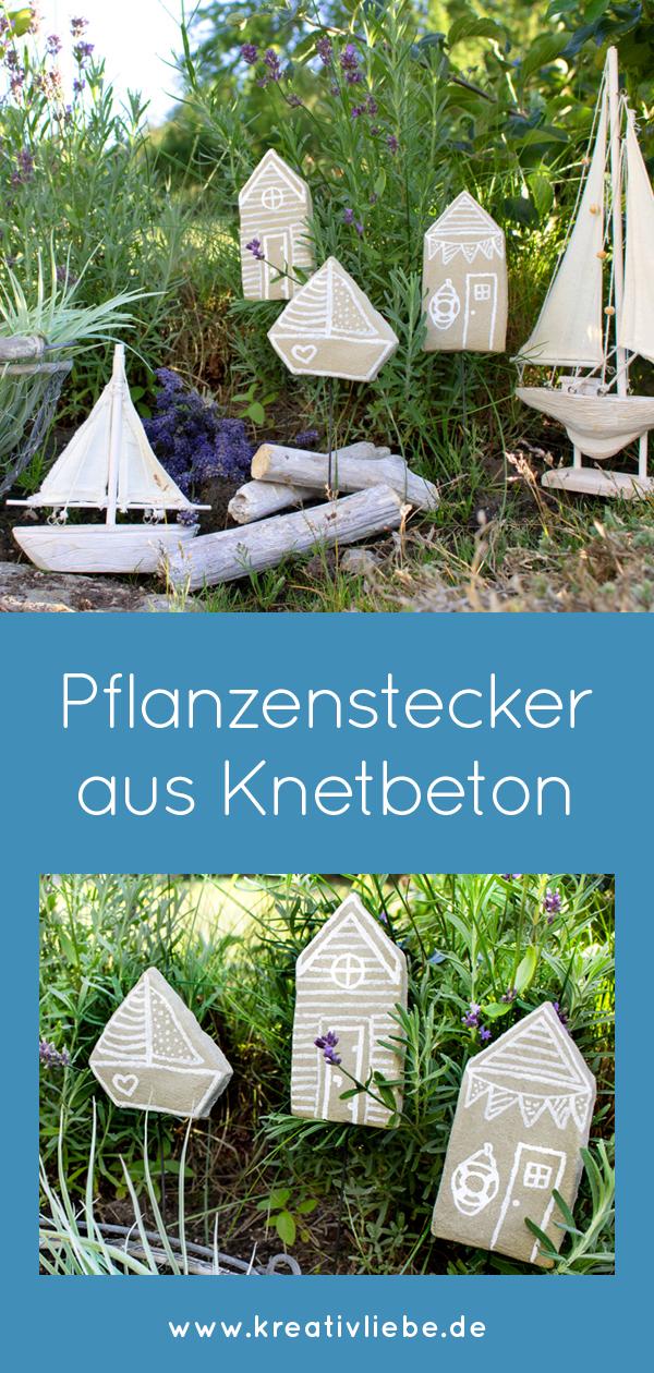 Pflanzenstecker Knetbeton