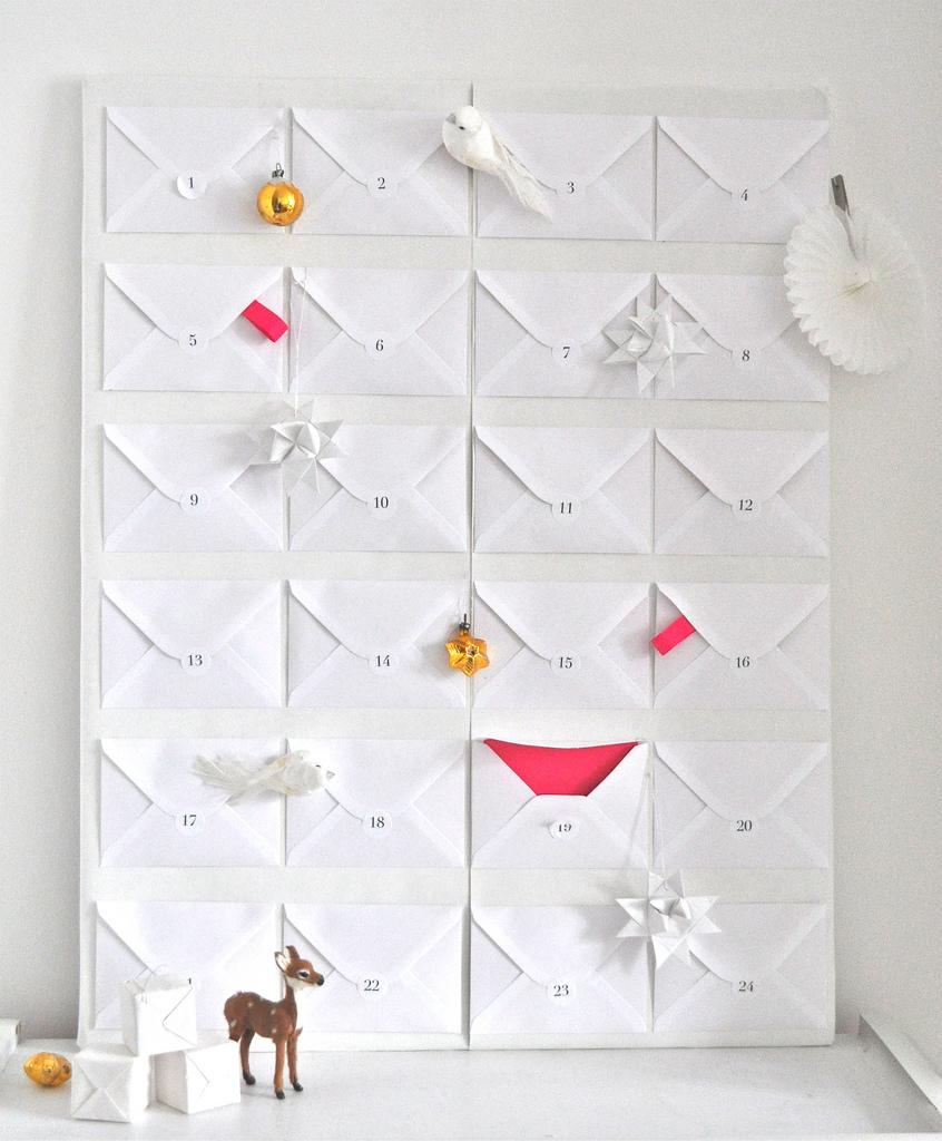 Adventskalender basteln aus Briefumschlgen