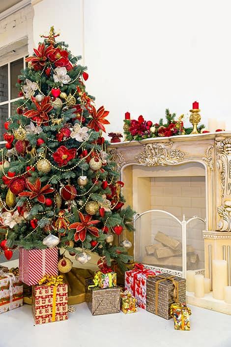 Weihnachtsbaum Geschmuckt Modern Festlich Wir Dekorieren