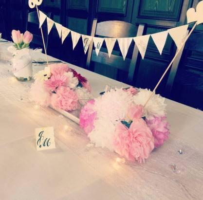 Aranžmá a papírové květiny