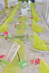 Využité techniky na svatebním stole
