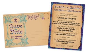 """Save the Date 5""""x7"""" Postcards"""