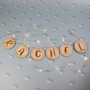 Artikelbild - Namensgirlande - floral - 6 Buchstaben
