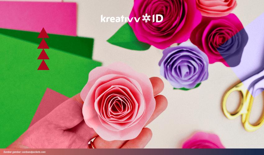 Lagi Nyiapin Pesta Dekorasi Dengan Bunga Mawar Kertas Deh
