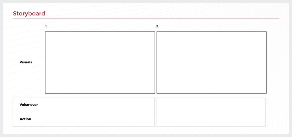 template storyboard