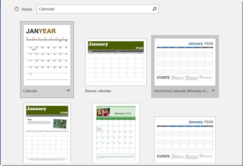 cara membuat kalender 1
