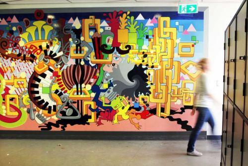 cara melukis dinding 3