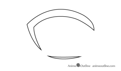 Cara Menggambar Mata Anime 3