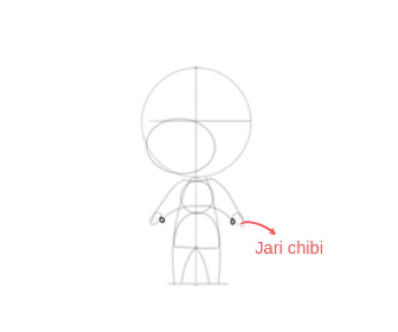 cara menggambar chibi 9