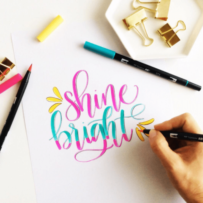 hand-lettering