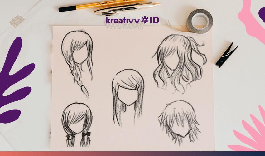 Cara Menggambar Anime Rambut