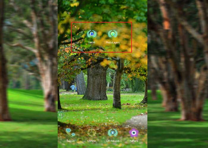 Siapkan Aplikasi Canva dan Photolayers