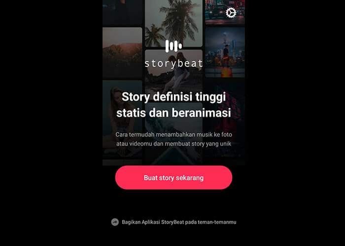 Buka Aplikasi Story Beat dan Buat Story Sekarang