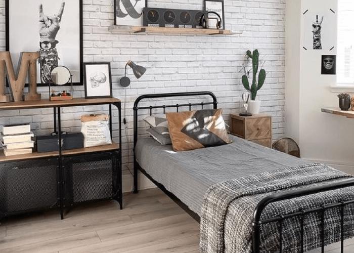 kamar tidur 1 sisi minimalis