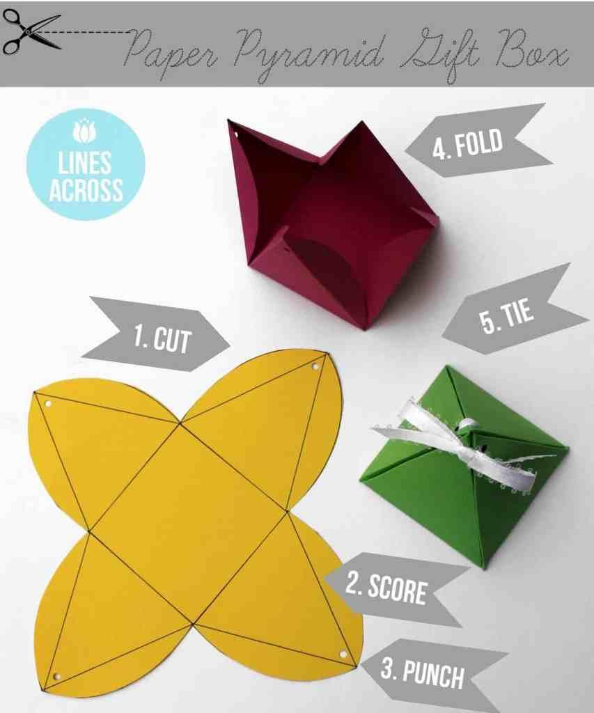 Piramida Kertas yang Kawaii
