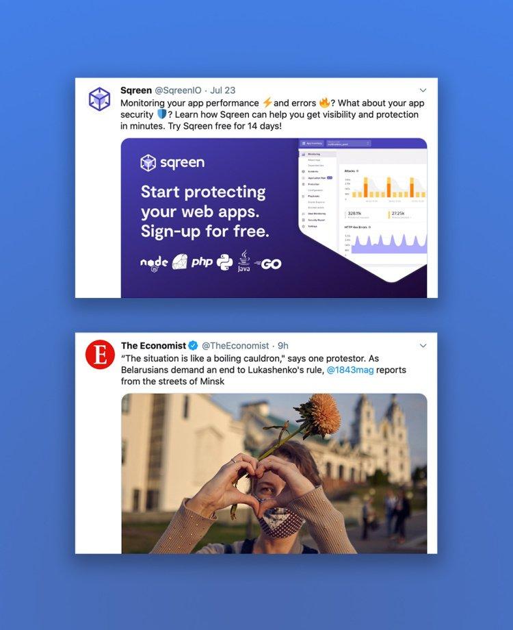 grafik atau fotografi untuk konten twitter