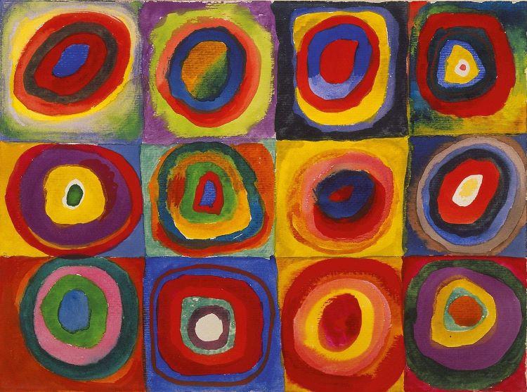 seni abstrak block color