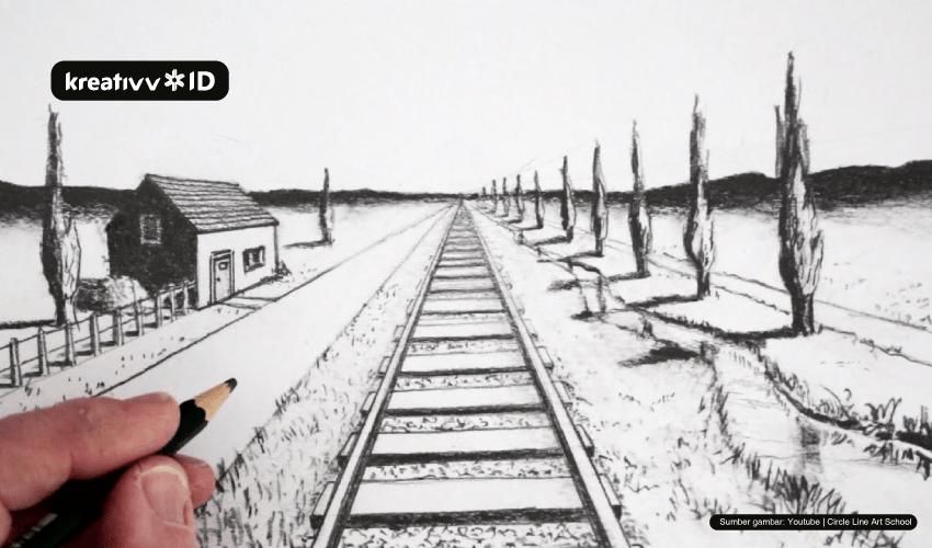 teknik gambar 1 perspektif