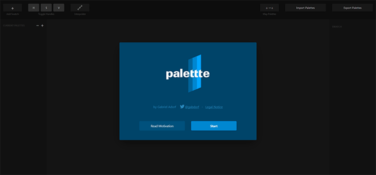 website kombinasi warna Palette App