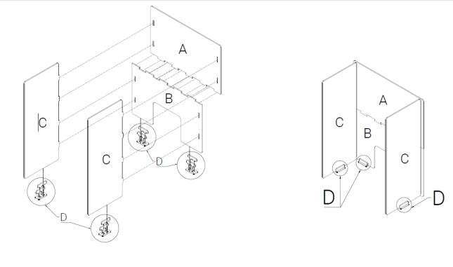 pembatas akrilik puzzle